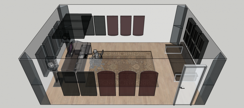 GIK Acoustics Treated Room with PolyFusors and Bass Traps