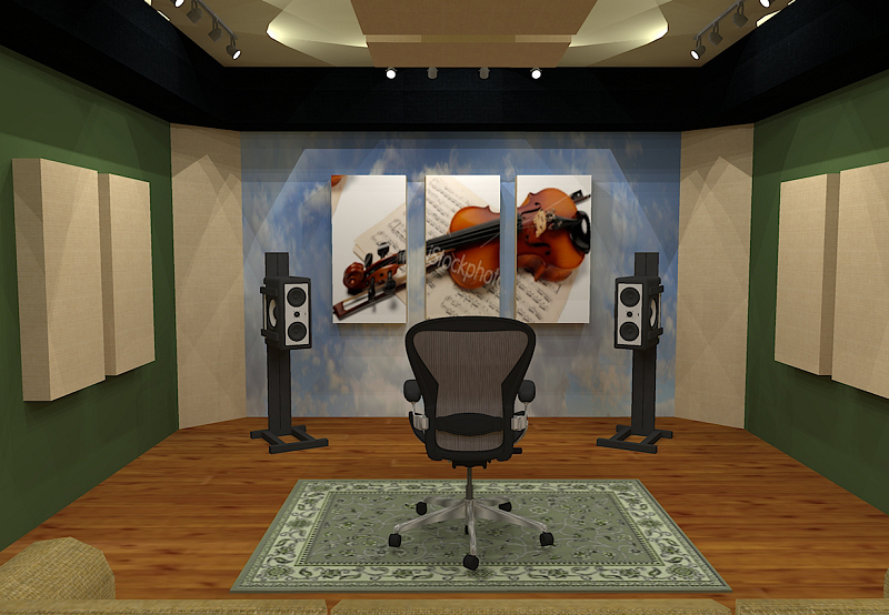 GIK Acoustics Room Layout w art panels