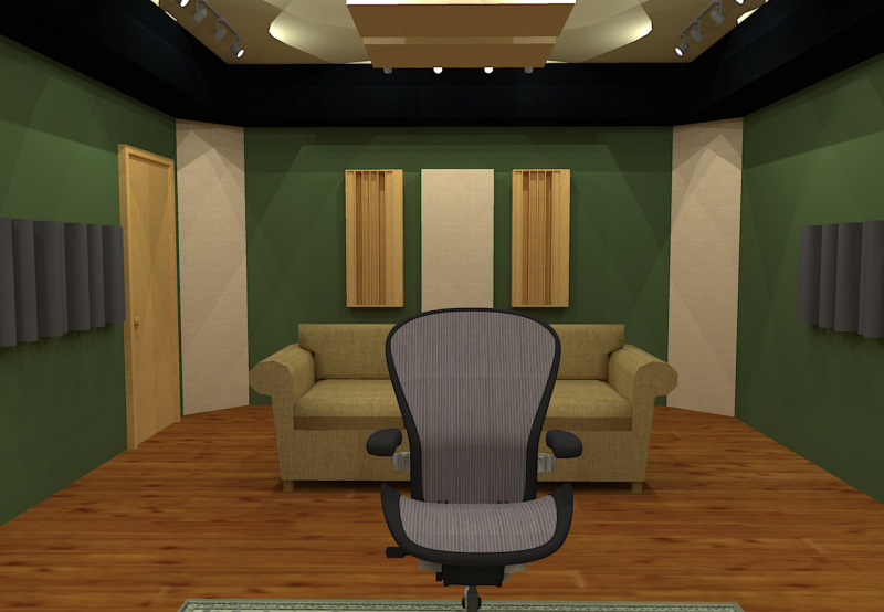 GIK Acoustics Room Layout w corner bass traps