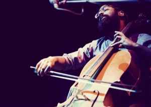 Romesh Thavanathan of Hey Rosetta performing