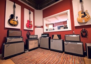 GIK Acoustics 242 Acoustic Panels behind guitars