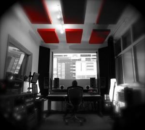 Tiny Thunder Audio GIK Acoustics Red Acoustic Panels Ceiling Cloud