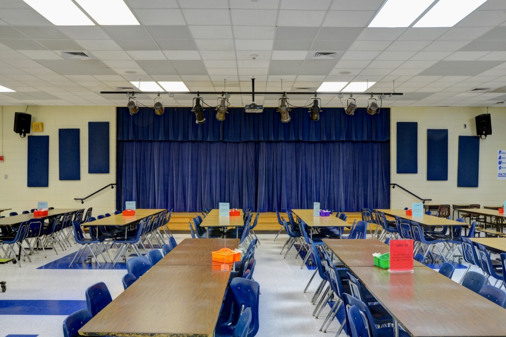 school cafeteria acoustic panels
