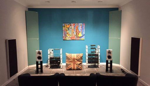 GIK Acoustics Listening room acoustics art acoustic panels and corner bass traps tri traps