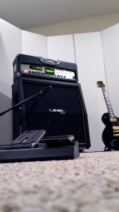 GIK Screen Panels Beach House Studio guitar amp