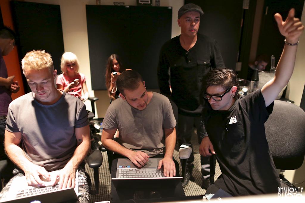 Diplo, Skrillex, and GTA at Studio DMI
