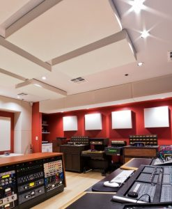 bass traps and cloud panels by GIK Acoustics in Lost Ark Studio Control panel