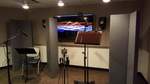 GIK Acoustics Screen panels in EIF Voiceover Lab