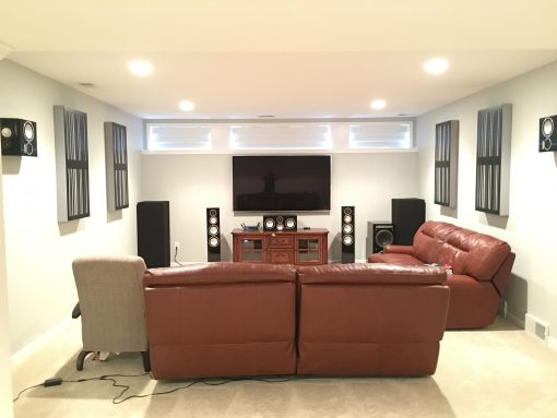 Absorber Diffusors alpha series bass traps by GIK Acoustics in Muhammad Tajir Listening Room