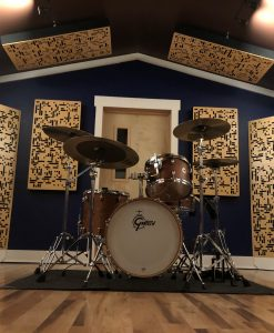 Chris Wadsworth Gretsch Drumset with GIK Acoustics Alpha Series Acoustic Panels and Bass Traps