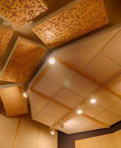 GIK Acoustics Alpha Series as slanted clouds behind listening position
