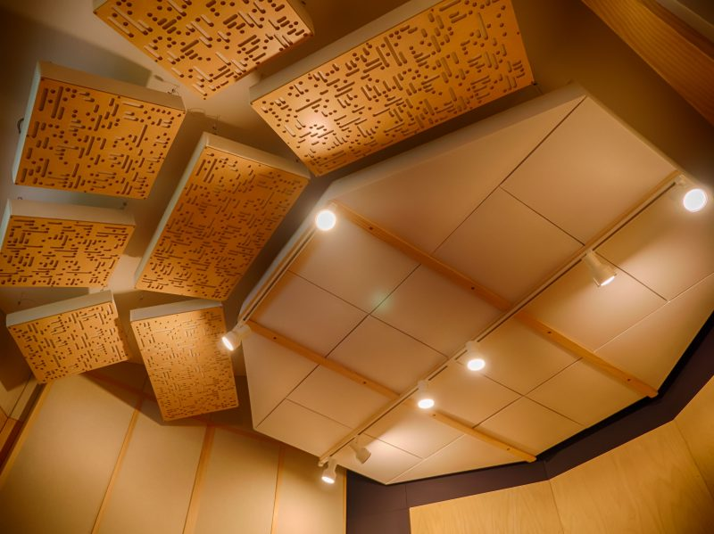 GIK Acoustics Alpha Series as slanted clouds behind listening position