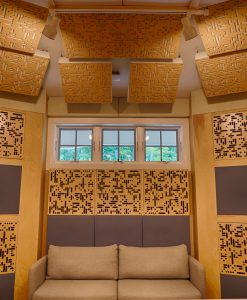 GIK Acoustics Alpha Series panels back wall in Brandon Jones Studio