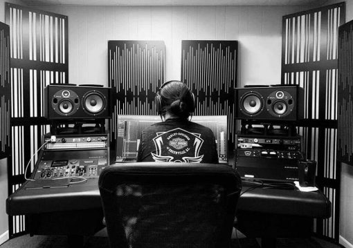 Mixing Mastering Studio using Alpha Series Corner Bass Traps and Impression Series Acoustic Panels