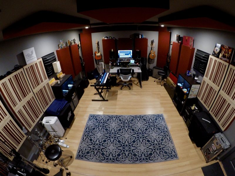 Mixing studio and live room using Alpha Series panels and bass traps
