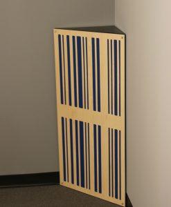 GIK Acoustics Corner CT Alpha Bass Trap in corner absorbing bass frequencies