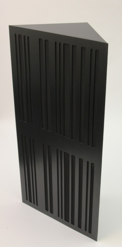 GIK Corner CT Alpha Bass Trap black plate black fabric