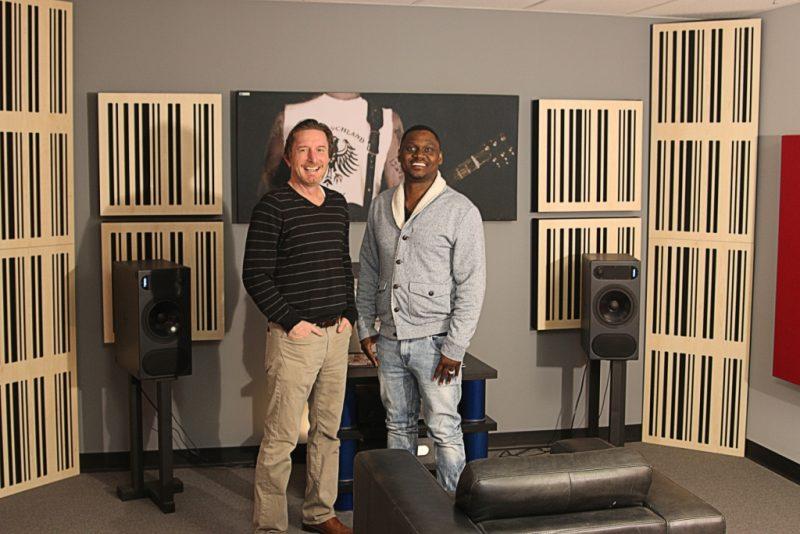 GIK Acoustics Demo Room Glenn Kuras and producer Needlz