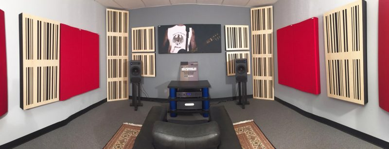 Alpha Series Acoustic Panels absorber diffusors by GIK Acoustics in Demo Room