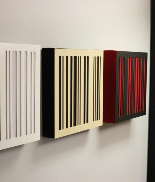 GIK Acoustics Alpha Series white_blonde wood_black panel