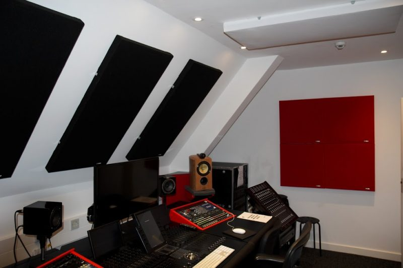 Abbey Road Ins S6 Studio GIK Acoustics front wall and side wall