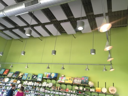 Clay Corner Studio GIK Acoustics 242 Acoustic Panels on ceiling