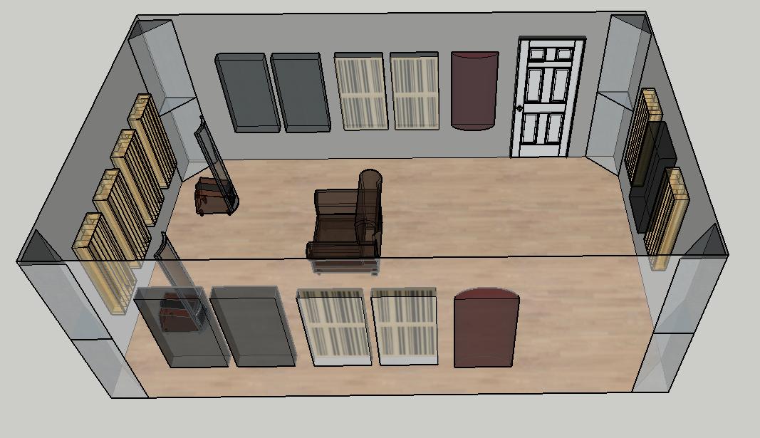 Acoustic panels room setup for listening room