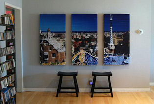 Art Panels Acoustic panels triptych by GIK Acoustics