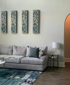 Acoustic panels impression pro series in the home interior decoration