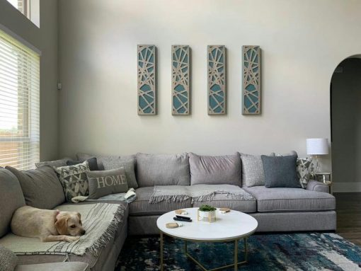 Impression Pro Series Acoustic Panels adding style to residential space