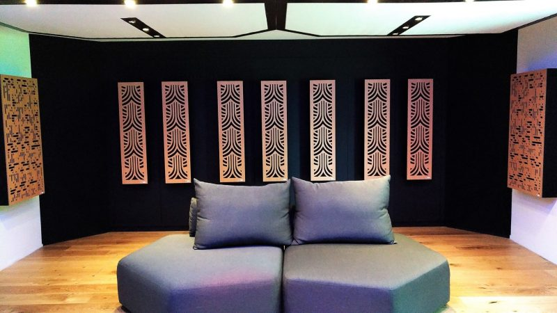 Impression series narrow panels acoustic panels in listening room