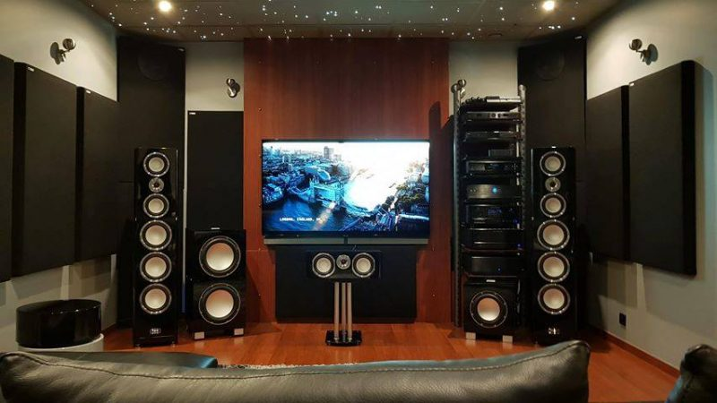 Home theater with GIK 244 Bass Traps