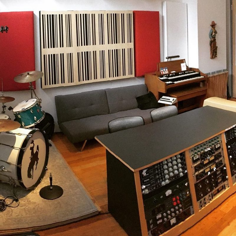 Alpha Panels 1D wood decorative acoustic panels Cowboy Technical Services Recording Rig