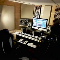 gik acoustics impression series narrow panels in recording studio