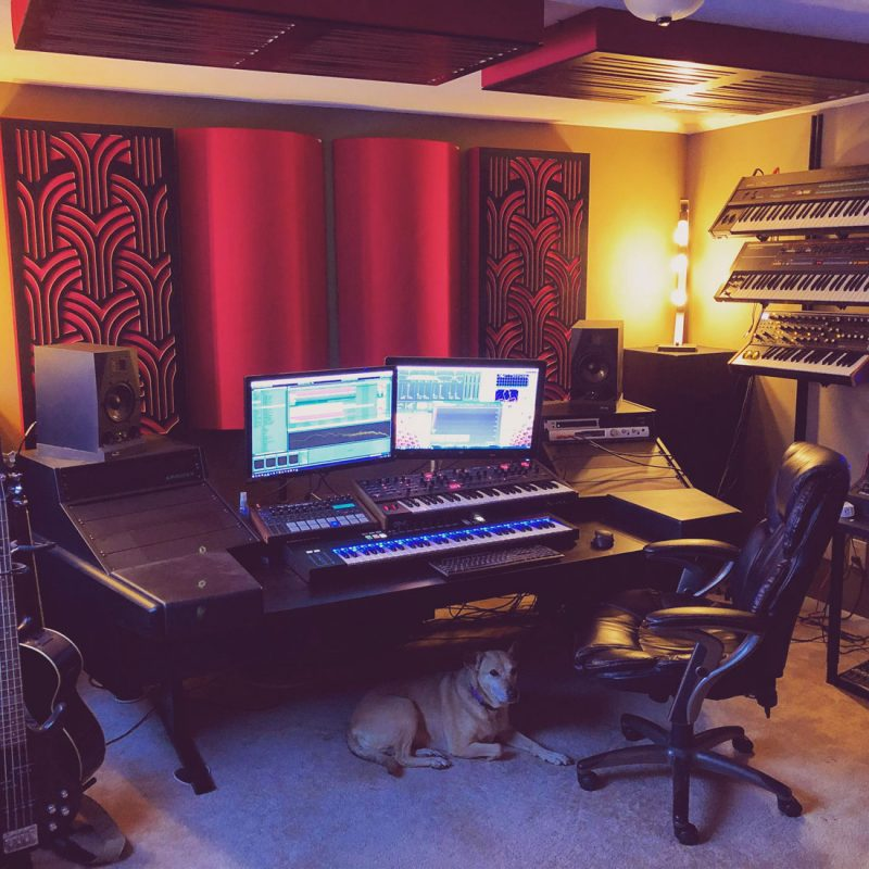 GIK Acoustics Home Studio with Gatsby and Ceiling Alpha Series Bass Traps
