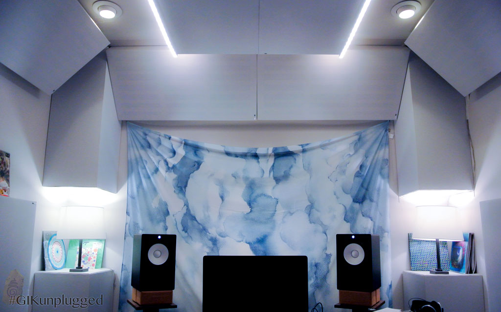 Recording Studio Acoustics Bass trapping with soffit bass traps in Bram Kaprow studio
