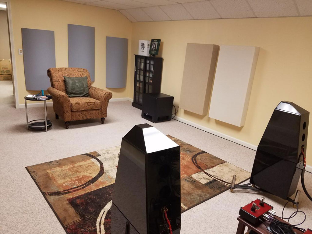 Dan Liburdi Listening room with polyfusors gik acoustics