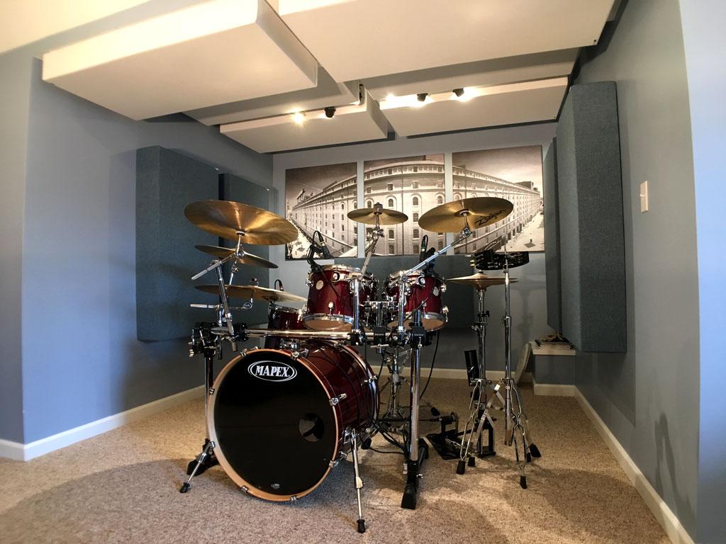 Home Recording Studio ideas for Drums GIK Acoustics monster bass traps 244 bass traps Michael Bell