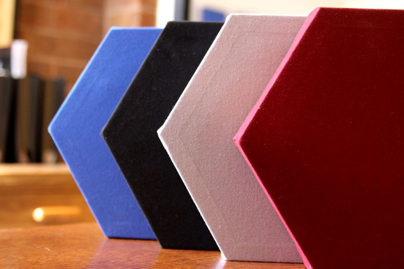 GIK Acoustics Hexagon Decorative Acoustic Panels in many colors