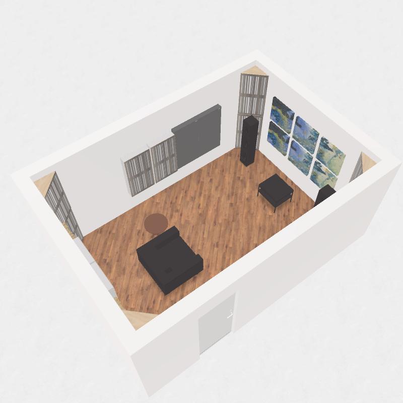 GIK Acoustics 2 channel listening room plan 1d and gotham