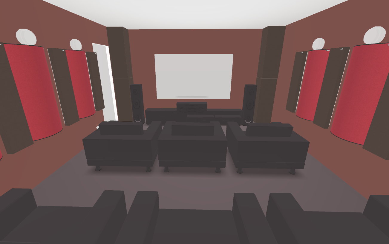 GIK Acoustics Home theater 3D Plan inside