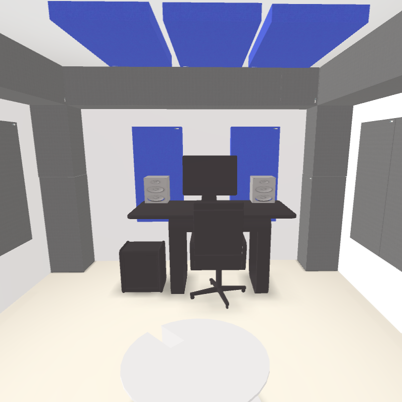 GIK Acoustics Mastering Room 3D Plan