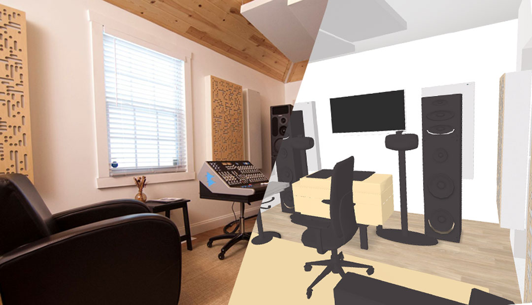 GIK Acoustics PMC studio sketch
