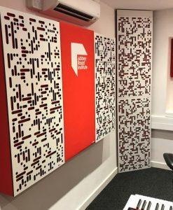 Abbey Road Institute Studio S6 GIK Acoustics Art Panels Alpha Series Panels and Corner CT Alpha Bass Trap