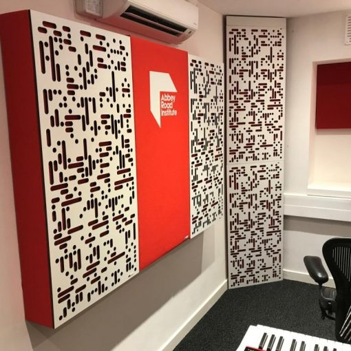 Abbey Road Institute Studio S6 GIK Acoustics Art Panels Alpha Series Panels and Corner CT Alpha Bass Trap