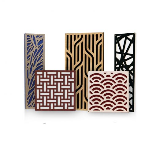 Decorative Acoustic Panels and Bass Traps by GIK Acoustics Impression Series Designs in 12 designs with 5 finishes and 15 standard fabrics