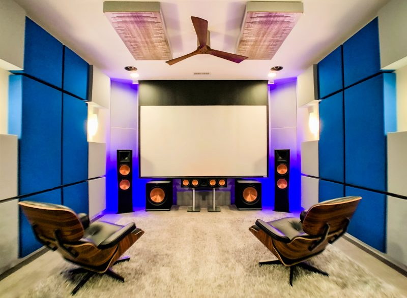 Bass Traps in Dolby Atmos Home Theater Room