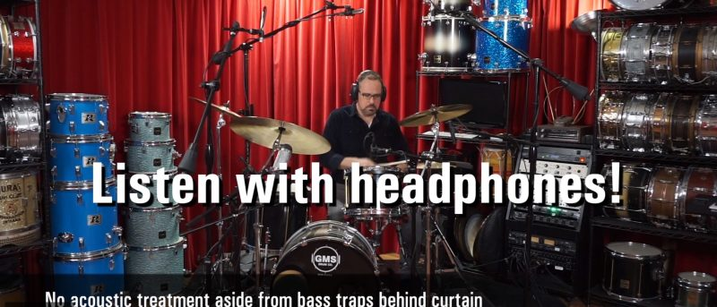 Hearing the difference of acoustic treatments on a drumset