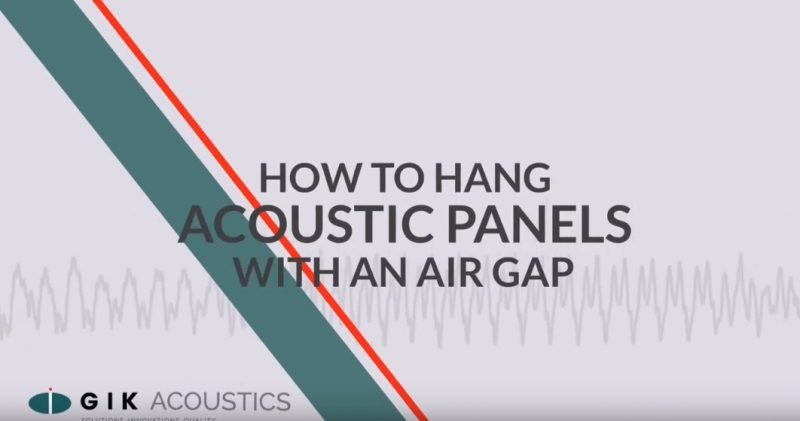 how to hang acoustic panel with air gap