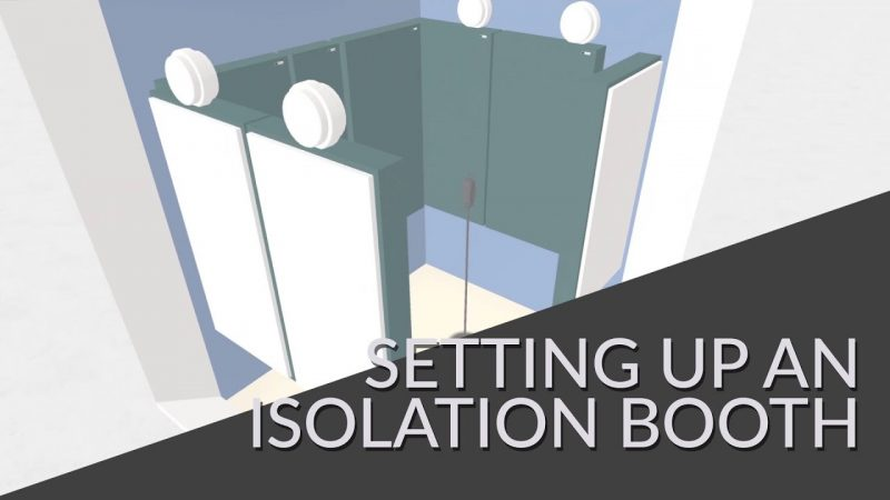 Treating an isolation booth video